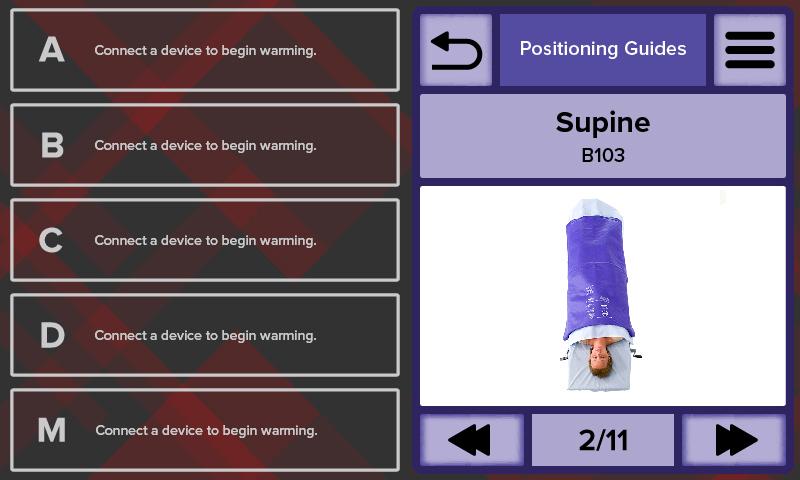 HotDog Patient Warming WC77 Temperature Management Controller Positioning Guide