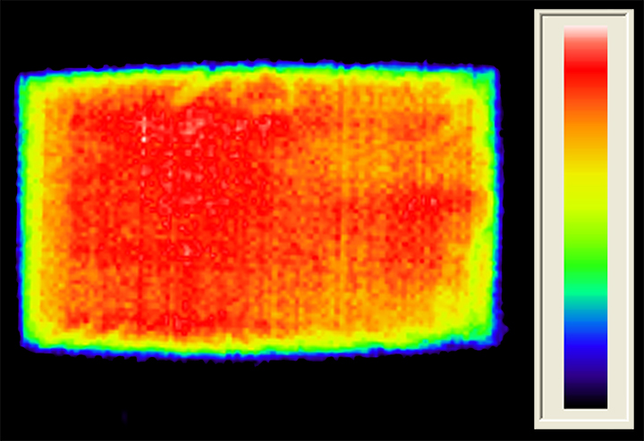HotDog Patient Warming IR view of uniform heat
