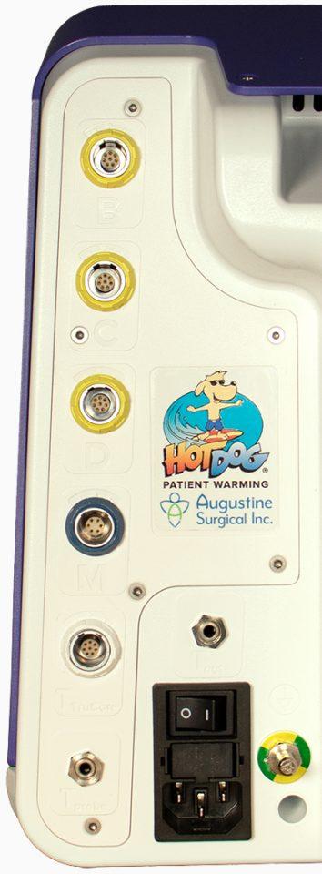 HotDog Patient Warming WC77 Temperature Management Controller Rear Ports