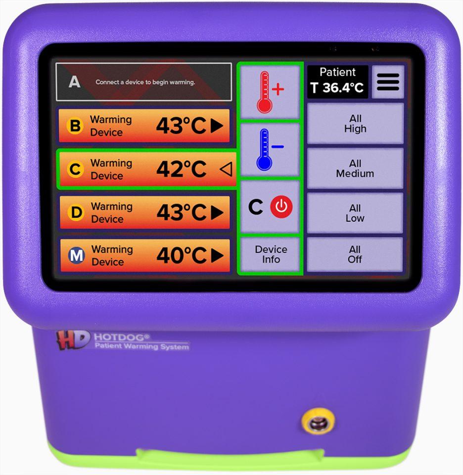 HotDog Patient Warming WC77 Temperature Management Controller Interface
