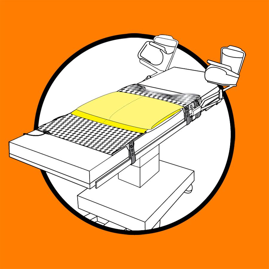 WaffleGrip Trendelenburg Positioning System and BackSaver Slide Sheet Step 2