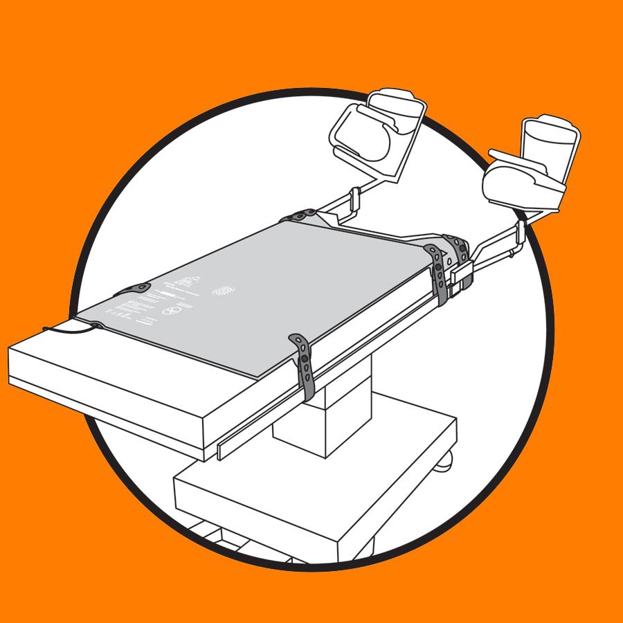 WaffleGrip Trendelenburg Positioning System Step 1