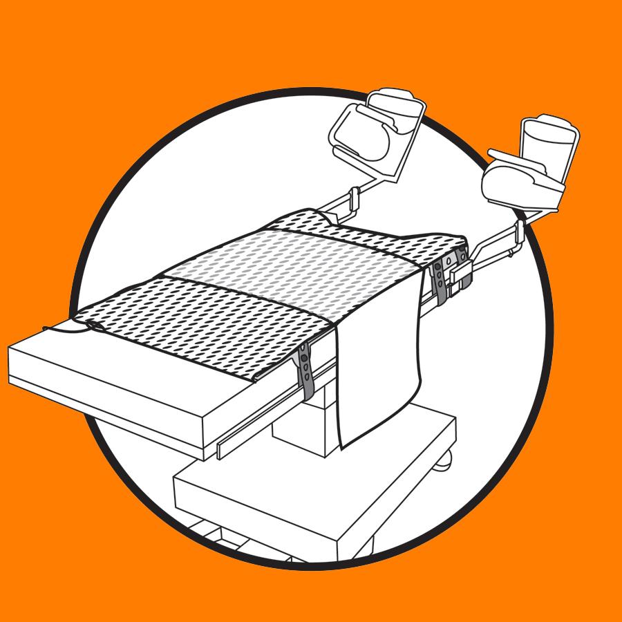 WaffleGrip Trendelenburg Positioning System Step 2